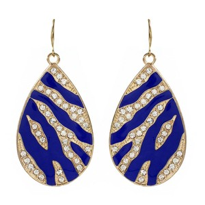 Amrita Singh Amrita Singh Rendevous Gold Crystal Lapis Enamel Earrings Erc 1530