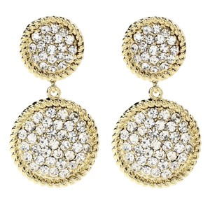 Amrita Singh Amrita Singh North Uist Gold Tone Crystal Earrings Erc 4031