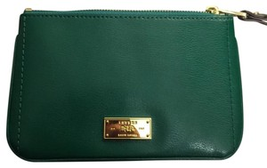 Ralph Lauren NWT Ralph Lauren Chiswell Large Wristlet - Dark Emerald Leather Gold Hardware
