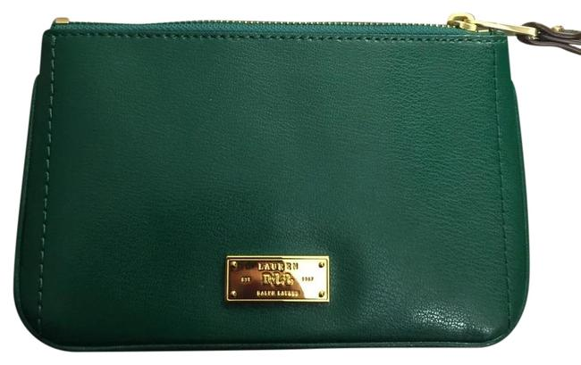 Item - Green Chiswell Large Wristlet - Dark Emerald Leather Gold Hardware Wallet