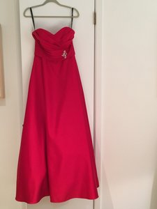 Alfred Angelo Cherry Cherry Satin Dress Style 7166 Dress