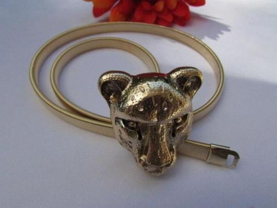 Other Women High Waist Hip Gold Tiger Head Stretch Metal Fashion Belt 25-42