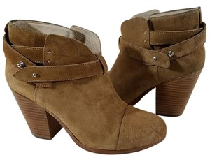 Rag & Bone Ankle Padded Made In Italy Leather Lining Camel Suede Boots