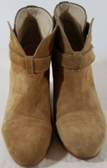Rag & Bone Ankle Padded Insole Made In Italy Leather Lining Camel Suede Boots Image 5