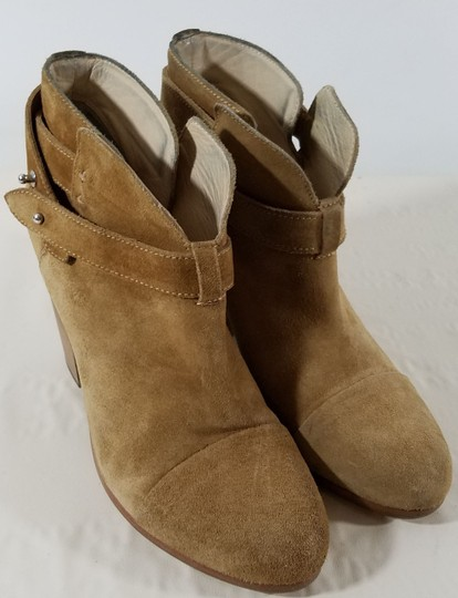 Rag & Bone Ankle Padded Insole Made In Italy Leather Lining Camel Suede Boots Image 6