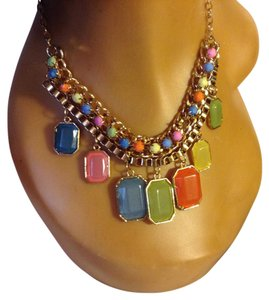 Other Multi, Orange, Green, Blue, Yellow Choker/Statement Necklace