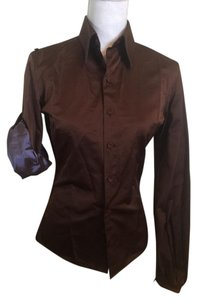 Jean-Paul Gaultier Button Down Shirt Brown