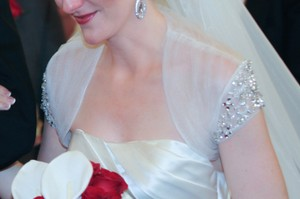Silk Rouched Tulle & Beaded Bridal Bolero