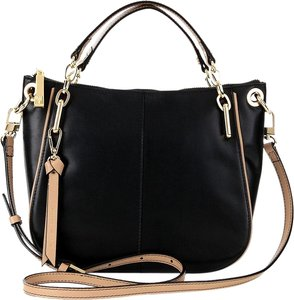 Antonio Melani Leather Satchel in Black