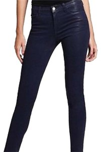 J Brand 620 Mid-rise Super Skinny Leg In Coated Rain Skinny Jeans-Coated