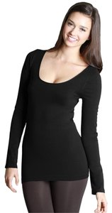 Nikibiki Long Sleeve Crew Crew Neck Button Down Shirt Black