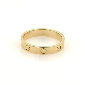 Cartier Cartier Mini Love 18k Yellow Gold 3.5mm Ring Band Eu 59-us 8.75
