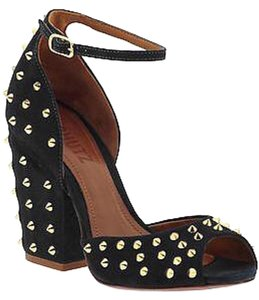 SCHUTZ Black and Gold Sandals