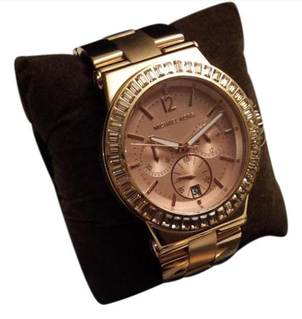 Item - Rose Gold Women's Chronograph Crystal Rose-tone Watch