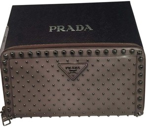 Prada Grey & Silver Clutch