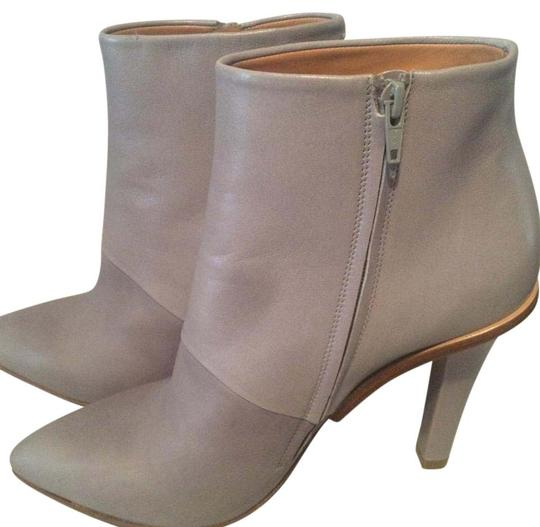 Maison Margiela Stiletto Leather Ankle Designer Grey Boots Image 1