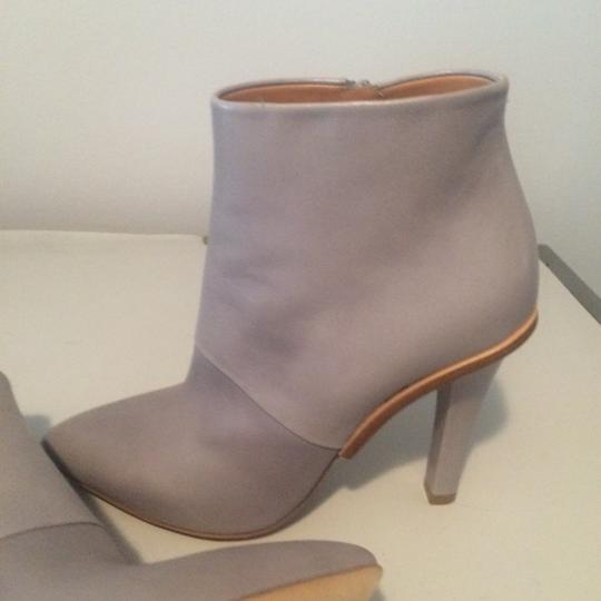 Maison Margiela Stiletto Leather Ankle Designer Grey Boots Image 2