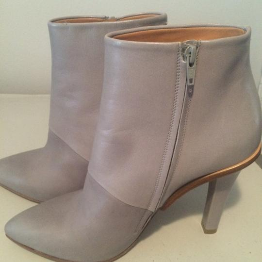 Maison Margiela Stiletto Leather Ankle Designer Grey Boots Image 3
