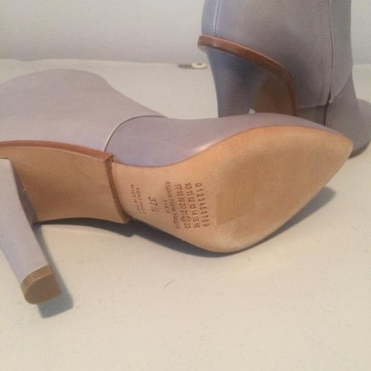 Maison Margiela Stiletto Leather Ankle Designer Grey Boots Image 5