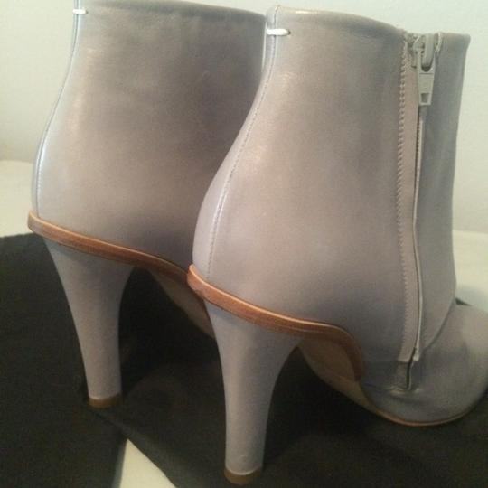 Maison Margiela Stiletto Leather Ankle Designer Grey Boots Image 6