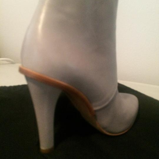 Maison Margiela Stiletto Leather Ankle Designer Grey Boots Image 7