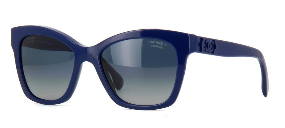 0f1f367a16 Chanel Navy Blue Lego Boy 5313 Cc Pantos Signature Butterfly Cateye  Polarized Brick Sunglasses