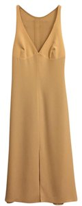 Armani Collezioni Formal Vintage Champagne Classic Halter Dress