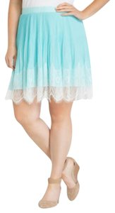 Torrid Pleated Chiffon Lace Skirt Blue