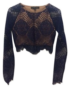 For Love & Lemons Crop Lace Never Worn Top Blue