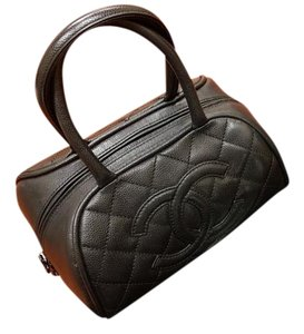 Chanel Bowler Vintage Purse Vintage Style Classic Tote in Black
