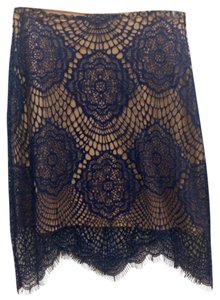 For Love & Lemons Lace Mini Skirt Blue