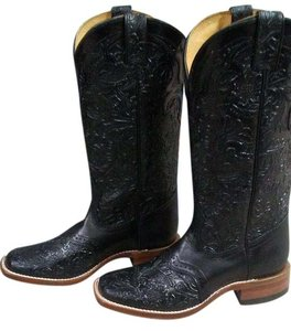 Boulet Black tooled leather Boots