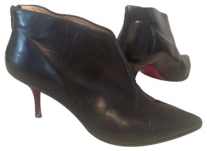 Christian Louboutin Leather Pointed Toe Black Boots