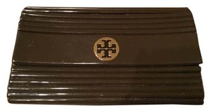 Tory Burch Ribbed Brown Clutch