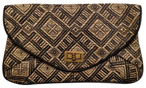 Xhilaration Black Tan Clutch