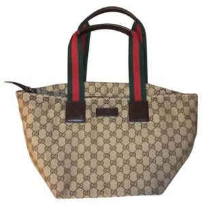 Gucci Tote in Khaki, green, Red