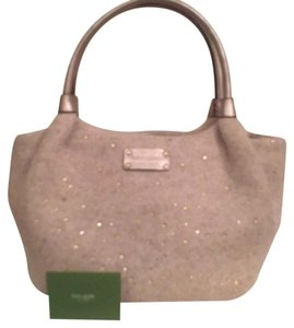 Kate Spade Rhinestone Felt Hobo/tote Satchel/handbag Shoulder Bag