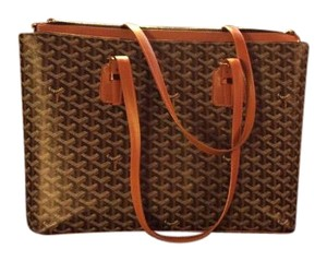 Goyard Tote in Brown Black