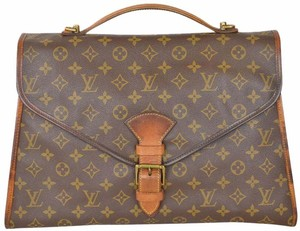 Louis Vuitton Monogram Messenger Briefcase Attache Case Medium Laptop Bag