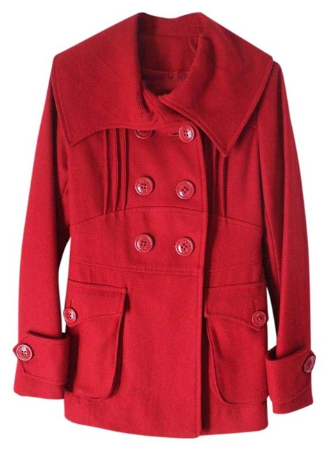 Item - Red Wool Blended Coat Size 2 (XS)