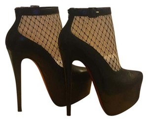 Christian Louboutin Bootie Trim Black with netted lace Boots