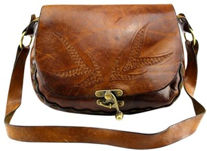Western Tooled Leather Vintage Shoulder Bag