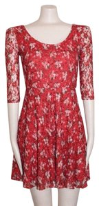 American Rag short dress RED Fit And Flare Floral Lace Lace on Tradesy