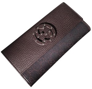 Gucci Gucci Denim GG/Dollar Calf Wallet - 231843 F5DIN 1086