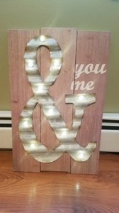 Lighted You And Me Wedding Sign Rustic