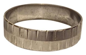 MONET Monet Vintage Etched Stainless Steel Slip On Cuff Bracelet
