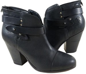 Rag & Bone Adjustable Strap Black Leather Boots