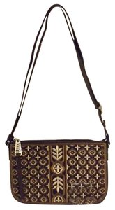 Brighton Octavia E9910n Leather Embroidered E9910n Cross Body Bag