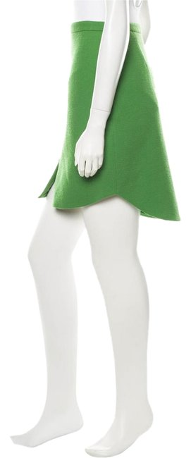 3.1 Phillip Lim Wool Chic Winter Holiday Skirt Green Image 0