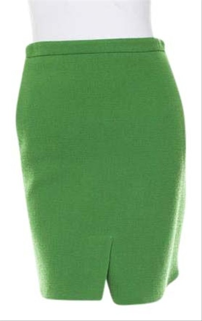 3.1 Phillip Lim Wool Chic Winter Holiday Skirt Green Image 2